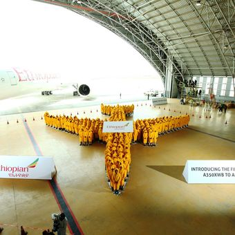 Guinness record: during the first A350 XWB delivery ceremony…